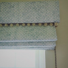 Roman blind ideas small scale pattern with pom pom