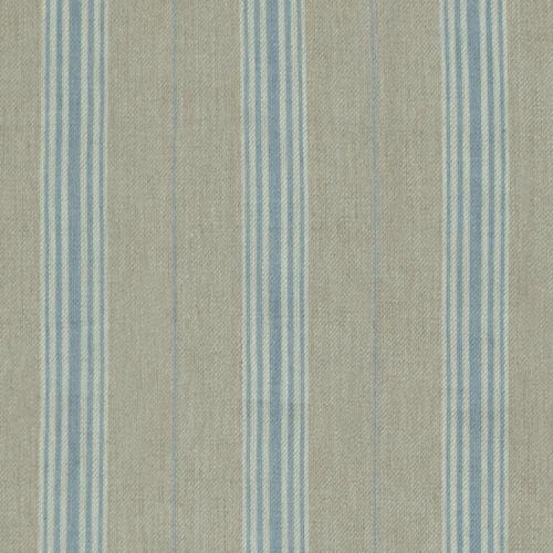 Inchyra Linen Ticking Old Blue roman blind fabric