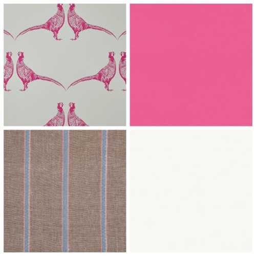 Bright Pink Wallpaper from Barneby Gates works well with Vanessa Arbuthnott Nordic Stripe