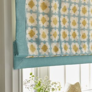 Vanessa Arbuthnott Origami Turquoise Saffron How too make roman blinds