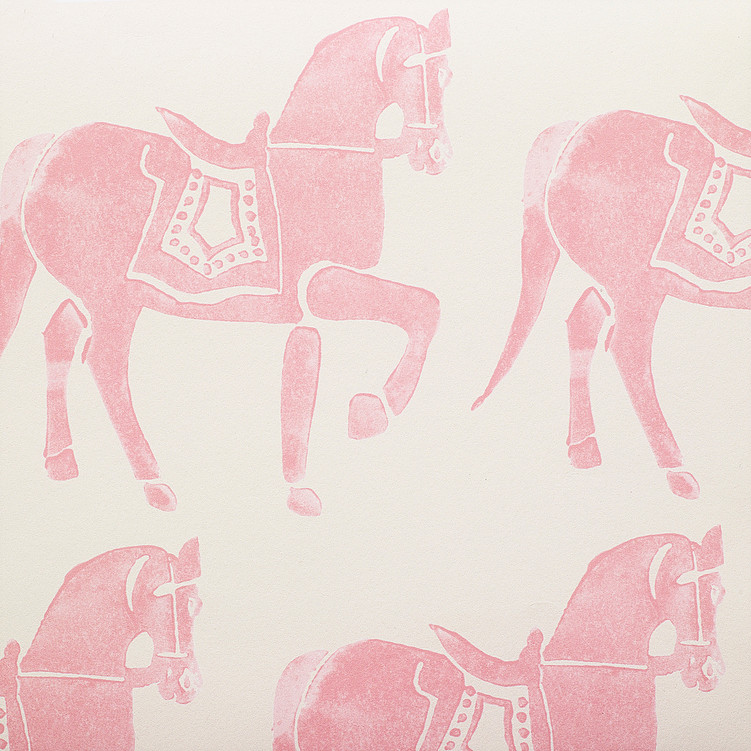 Molly Mahon Marwai pink horse wallpaper