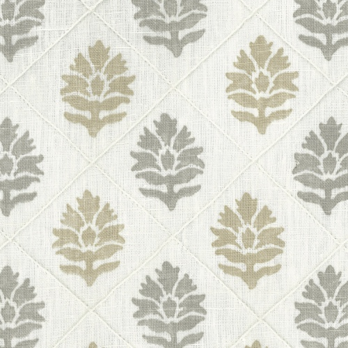Nina Campbell Camille beige printed linen