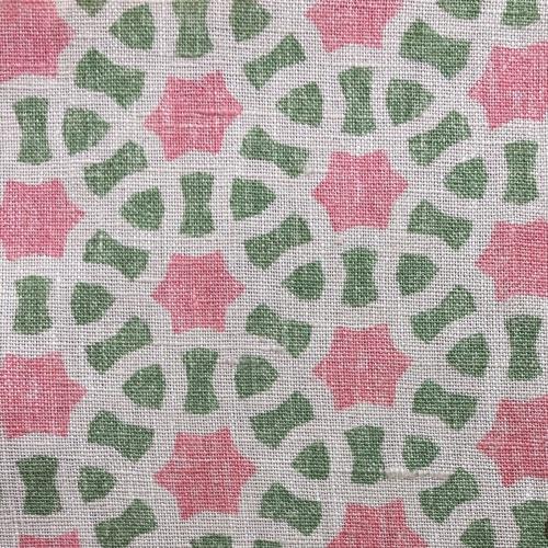 Susanna Davis Akbar Angelika pink green fabric