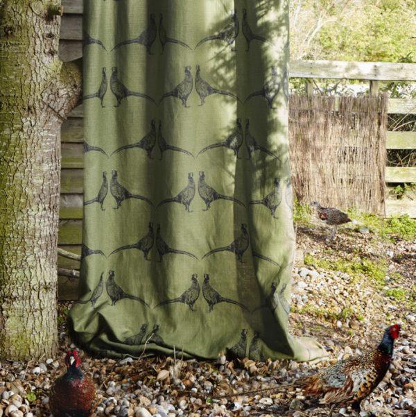 Barneby Gates Pheasant Camo Green fabric
