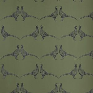 Barneby Gates Pheasant wallpaper camo green