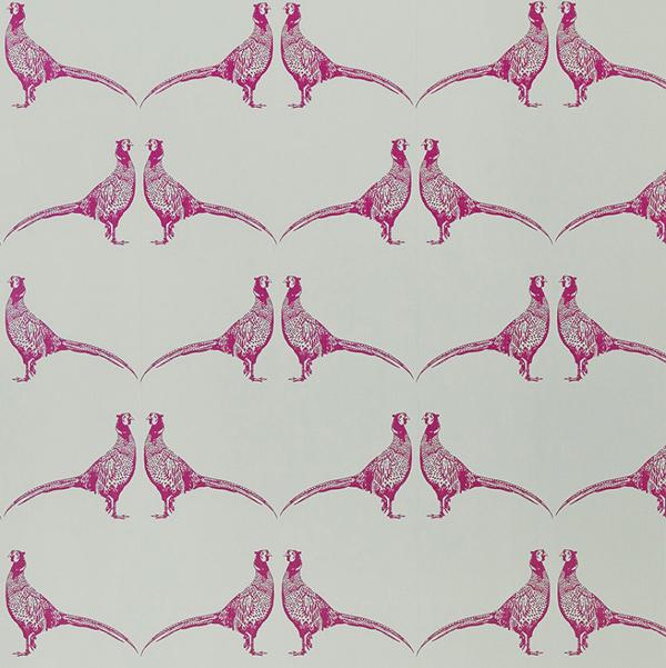 Barneby Gates Pheasant wallpaper pink