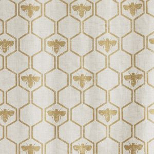 Barneby Gates Honey Bees Gold fabric