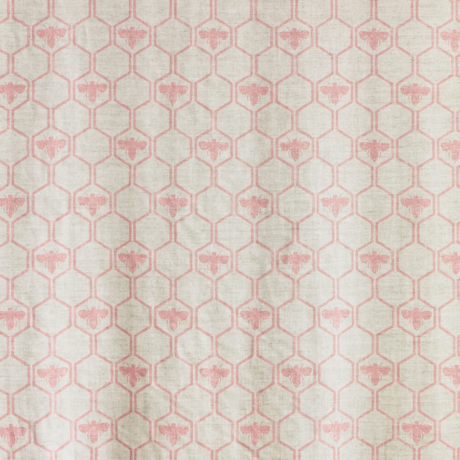 Barneby Gates Honey Bees pink rose fabric