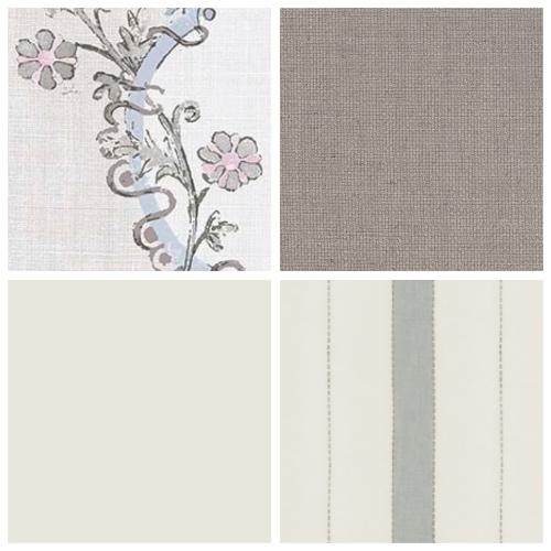 Lewis & Wood Vallance floral linen moodboard decorating scheme
