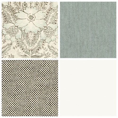 Cloth & Clover Amberley fabric moodboard decorating ideas