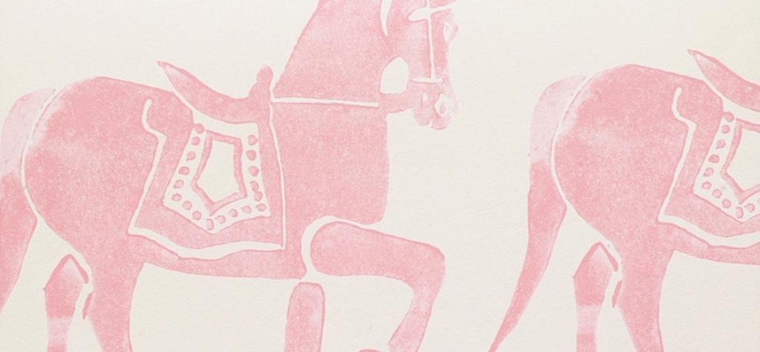 Molly Mahon Marwai pink horse wallpaper