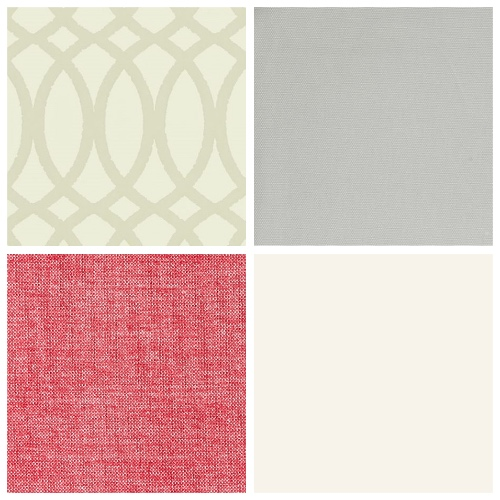 Neutral decorating scheme fabric wallpaper