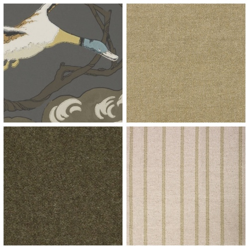 Mulberry Ducks wallpaper moodboard decorating scheme