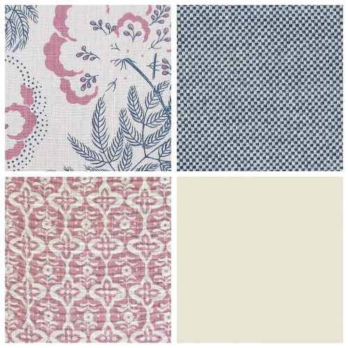Rapture & Wright Cloud Garden in Indigo fabric patternscheme moodboard