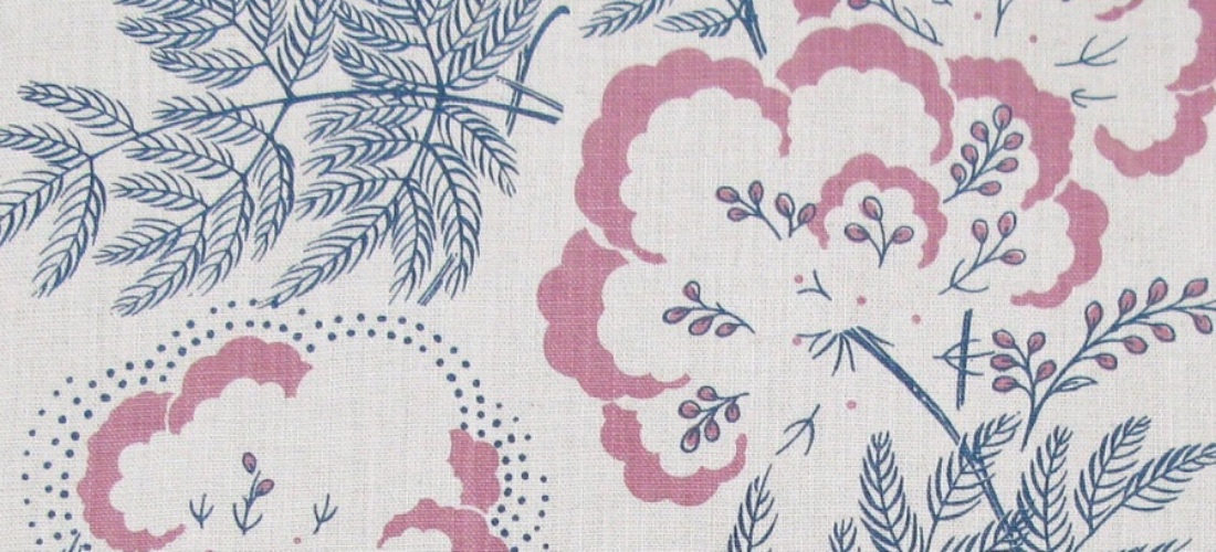 Rapture & Wright Cloud Garden Indigo blue floral handblocked fabric