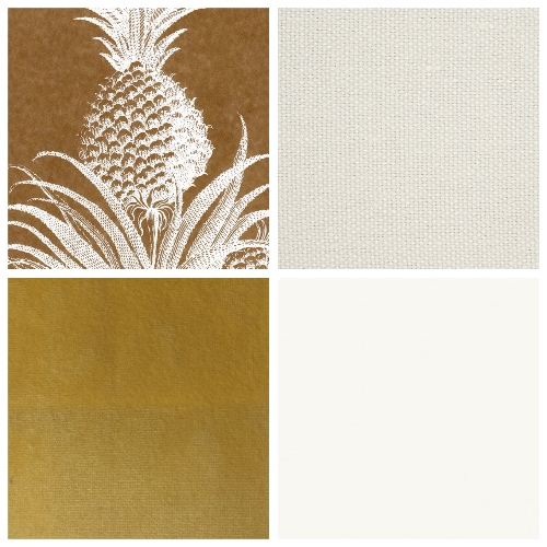 Studio Printworks Pineapple wallpaper mood board decorating scheme