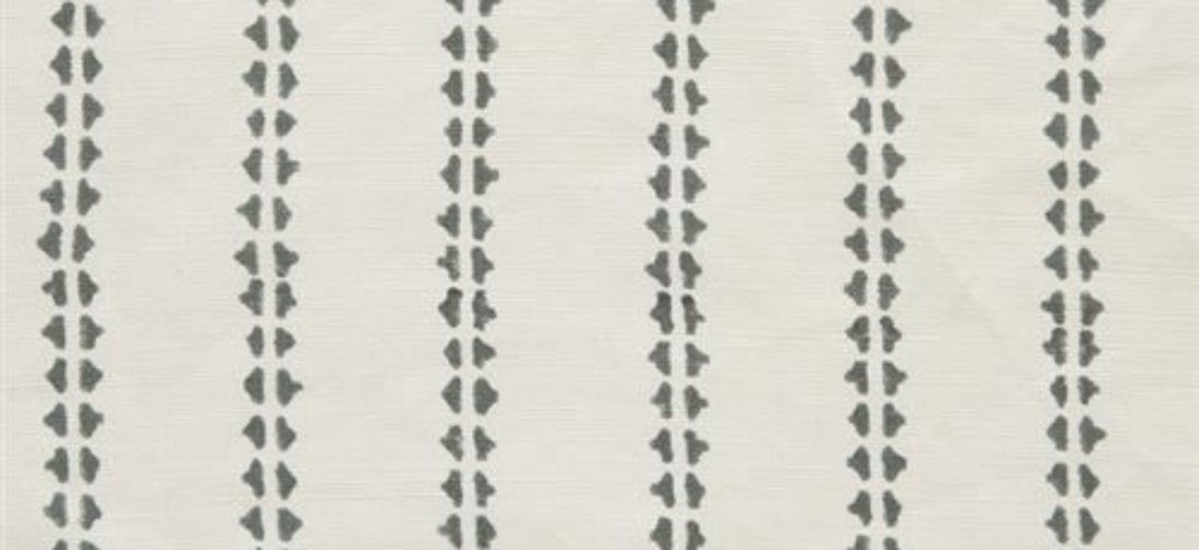 Vanessa Arbuthnott Simple Ticking charcoal stripe fabric