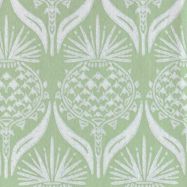 Barneby Gates Artichoke Thistle spring green wallpaper