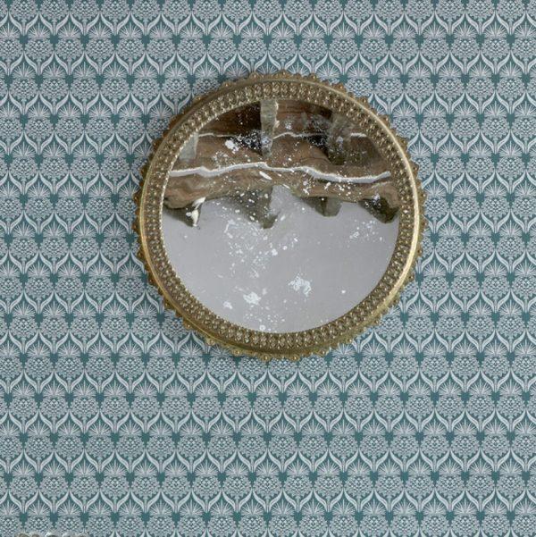 Barneby Gates Artichoke Thistle teal wallpaper