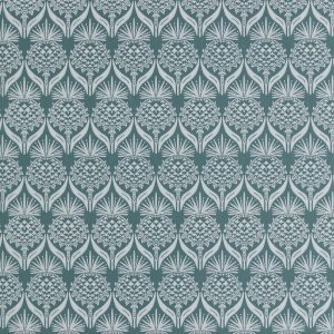 Barneby Gates Artichoke Thistle teal wallpaper