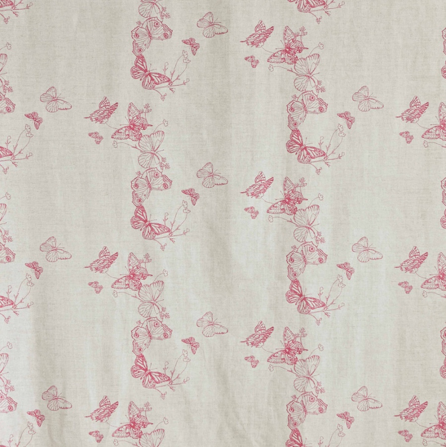 Barneby Gates Butterflies fabric pink