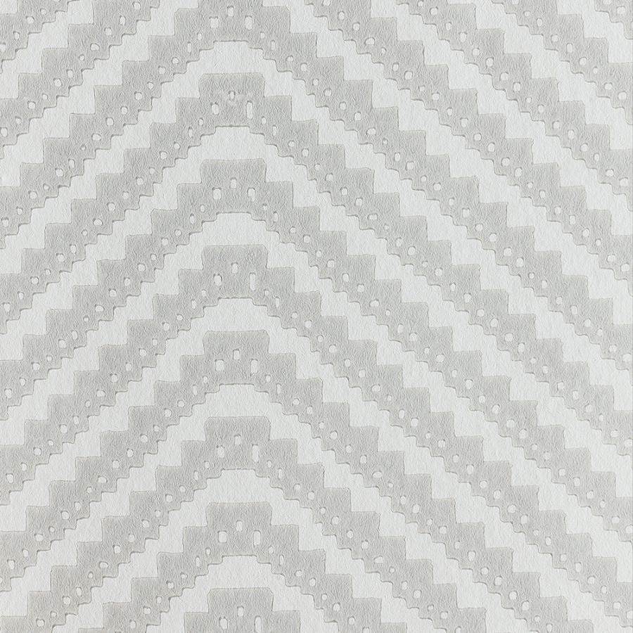Barneby Gates Chevron grey wallpaper close up