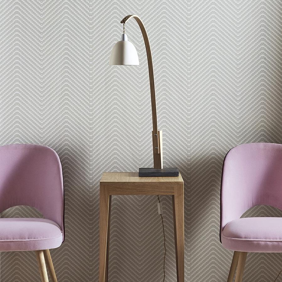 Barneby Gates Chevron grey wallpaper lifestyle