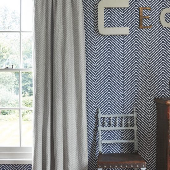 Barneby Gates Chevron grey curtains