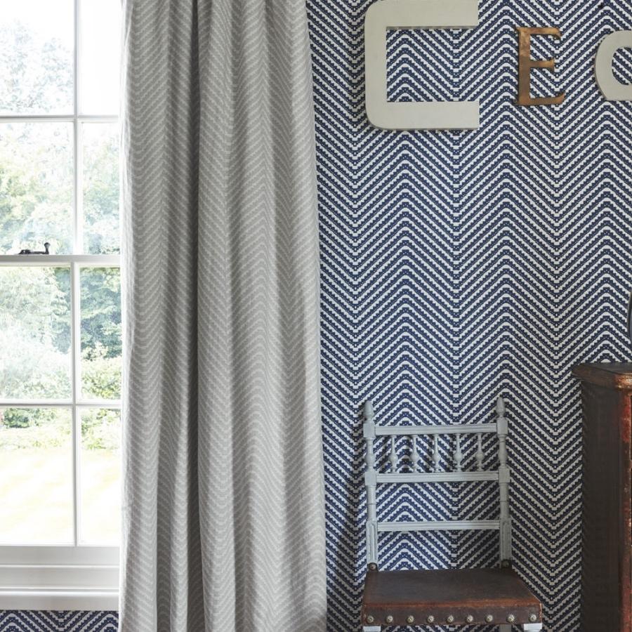 Barneby Gates Chevron grey curtains