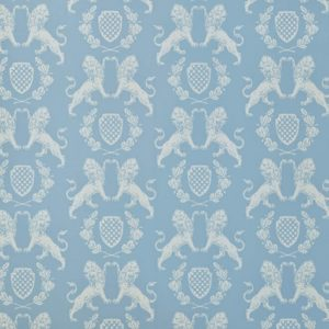 Barneby Gates Heraldic Lion wallpaper wedgewood blue