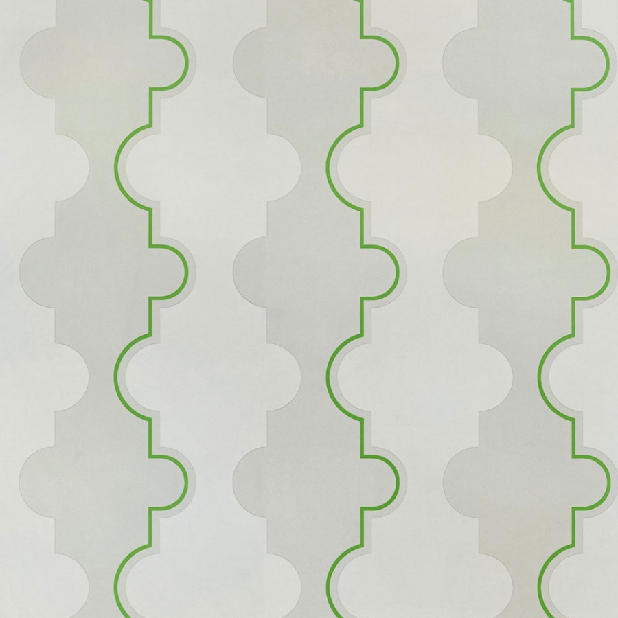 Barneby Gates Jigsaw Stripe green wallpaper