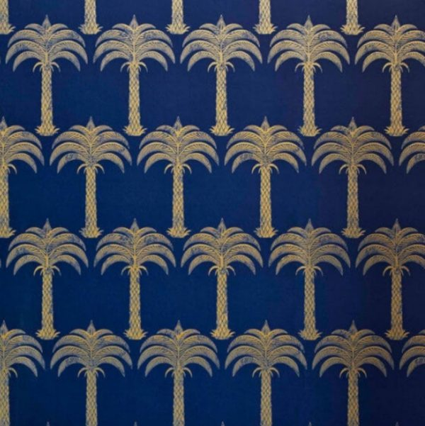 Marrakech Palm wallpaper by Barneby Gates blue