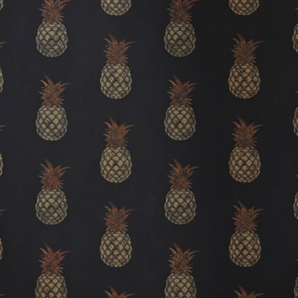 Pineapple wallpaper Barneby Gates charcoal