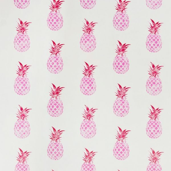 Barneby Gates pink pineapple wallpaper