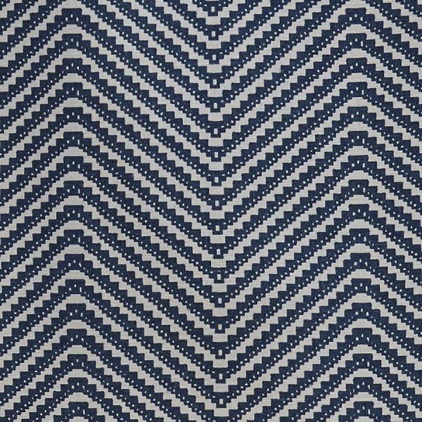 Barneby Gates chevron fabric ink blue