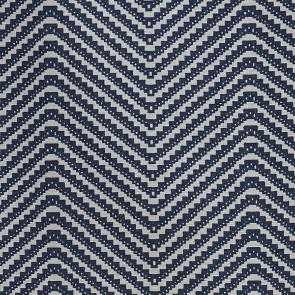Barneby Gates chevron fabric ink blue
