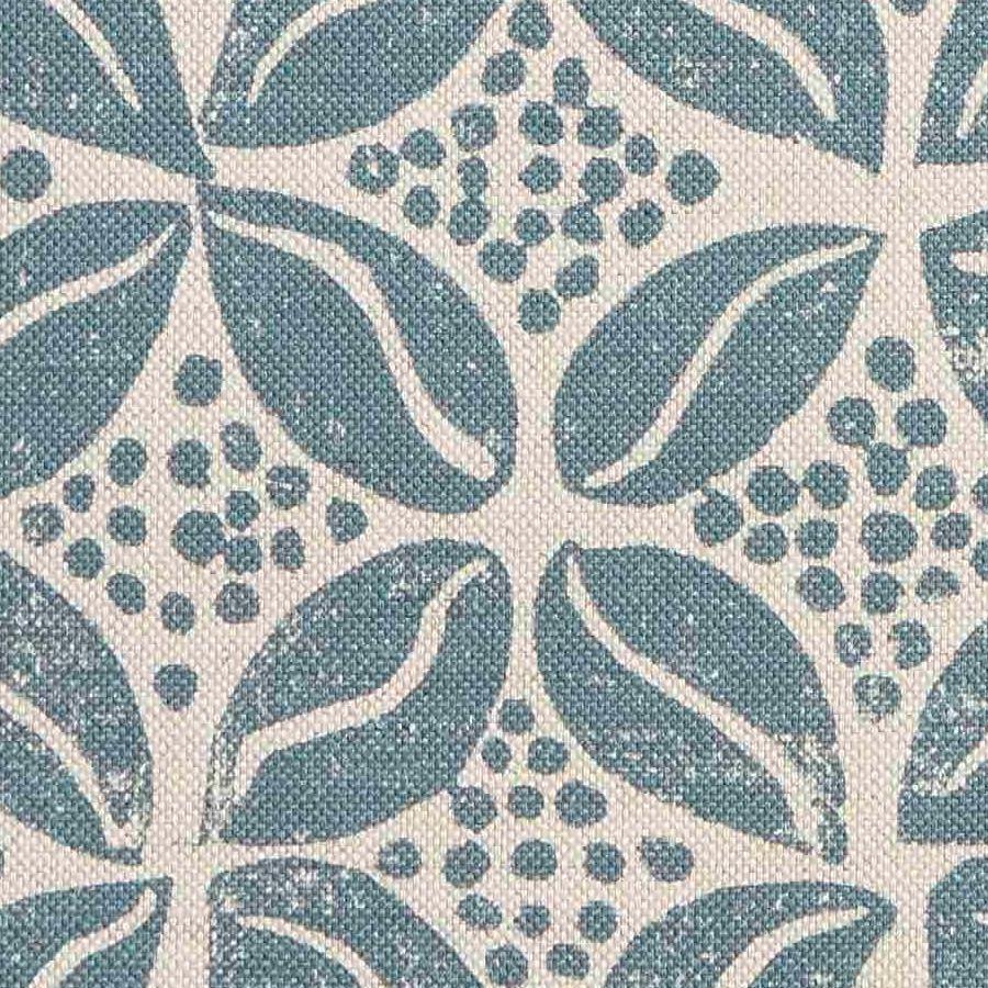 Molly Mahon Coffee Bean petrol blue fabric