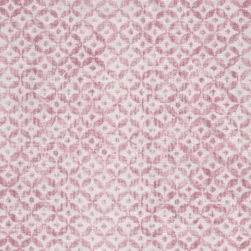 Inchyra Dedalo Raspberry pink printed linen fabric
