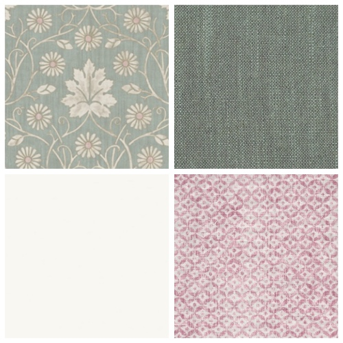 Lewis & Wood Vineheart moodpboard decorating scheme printed linen fabric