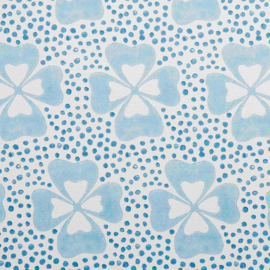 Molly Mahon Clover Blue fabric