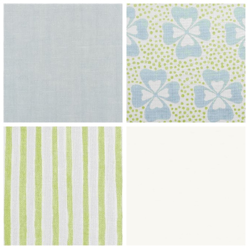 Molly Mahon decorating ideas Clover mood board childrens bedroom fabrics paints