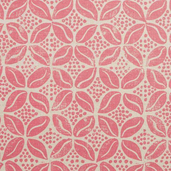 Molly Mahon Coffee Bean blush pink fabric
