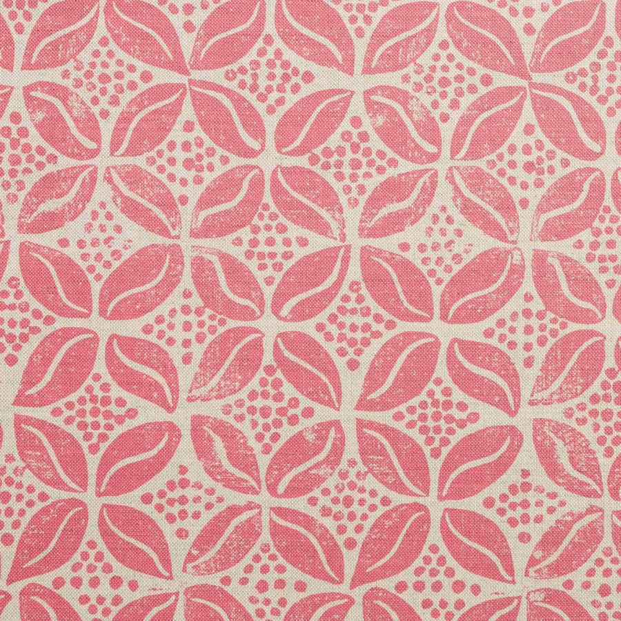 Molly Mahon Coffee Bean blush pink fabric