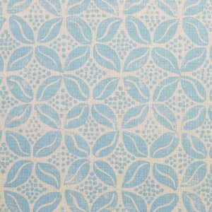 Molly Mahon Coffee Bean cornflower blue fabric