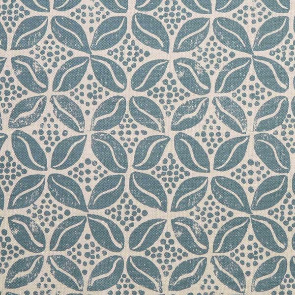 Molly Mahon Coffee Bean petrol blue fabric
