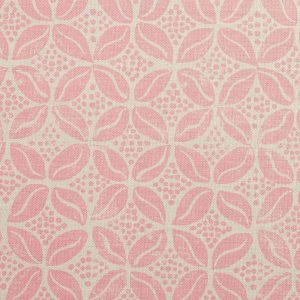Molly Mahon Coffee Bean rose pink fabric