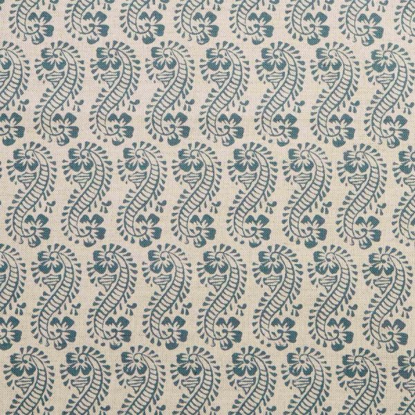Molly Mahon Lani petrol blue fabric