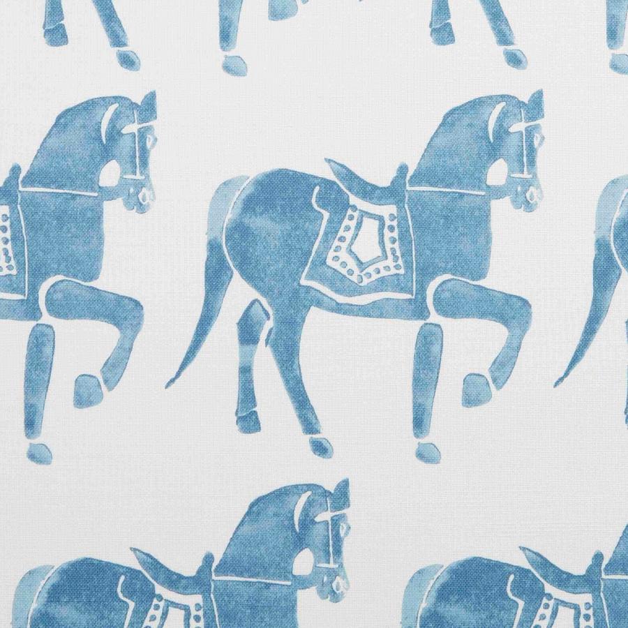 Molly Mahon Fabric Mawari Horse Blue