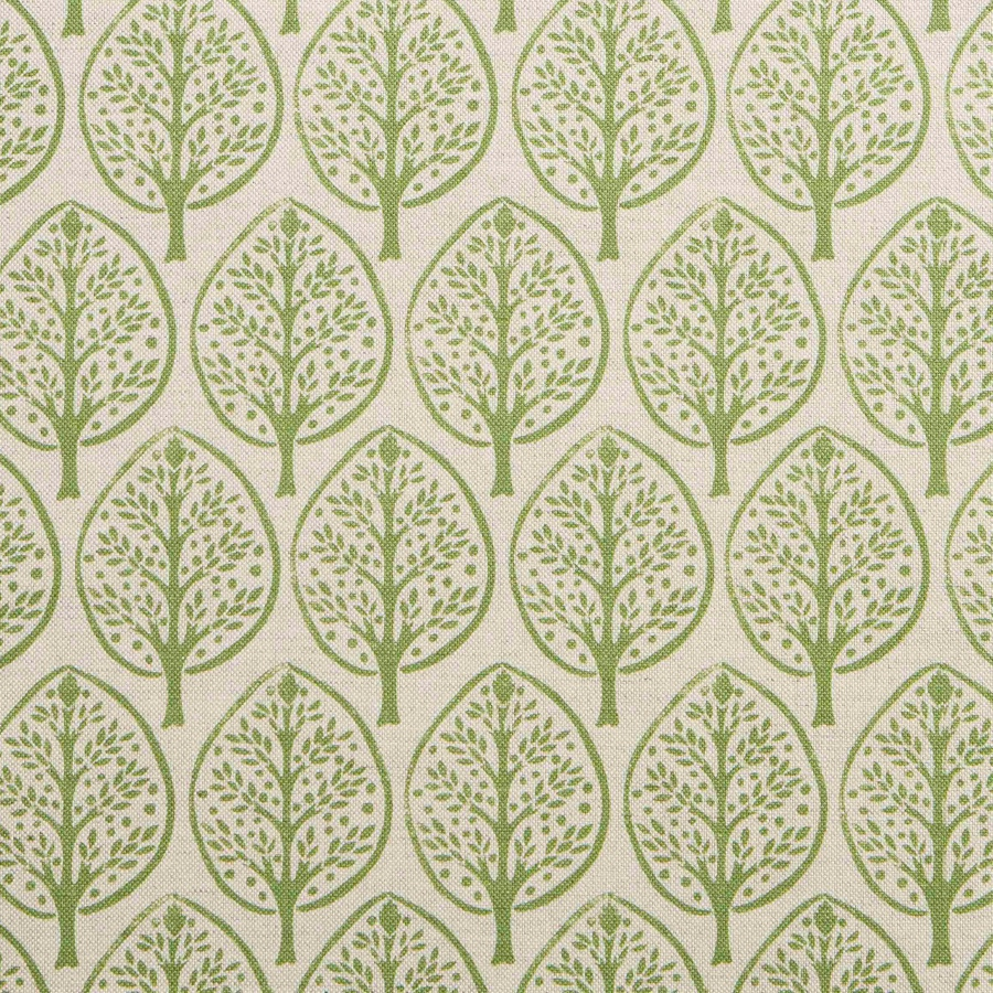 Mini Burchetts fabric by Molly Mahon in moss green