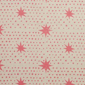 Molly Mahon star fabric blush pink